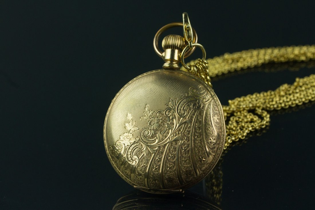 American Waltham Watch Co. Pocket Watch w/ Chains - 3