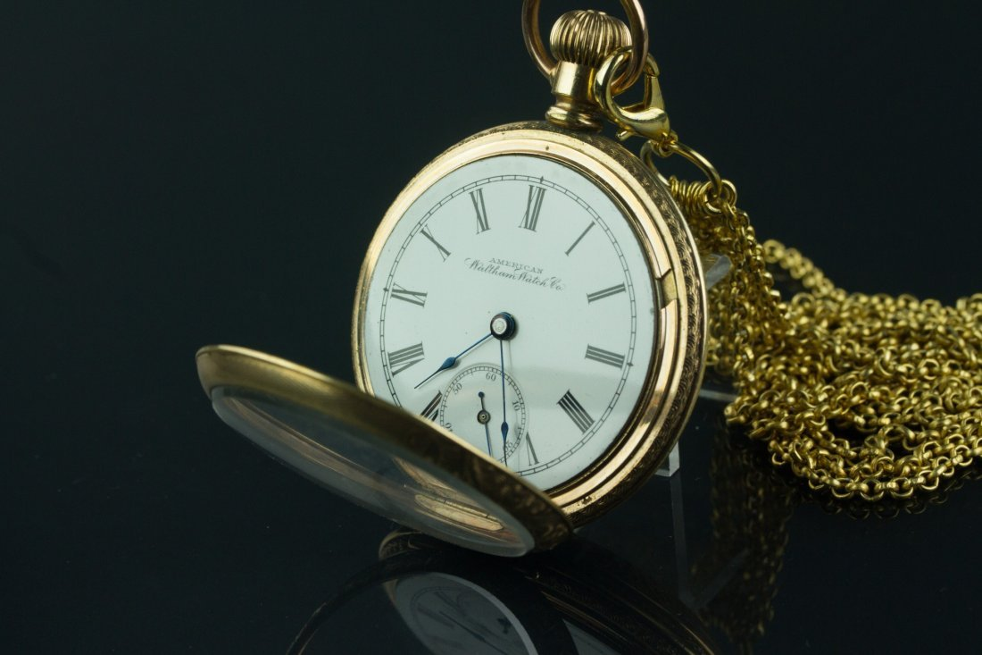 American Waltham Watch Co. Pocket Watch w/ Chains - 4