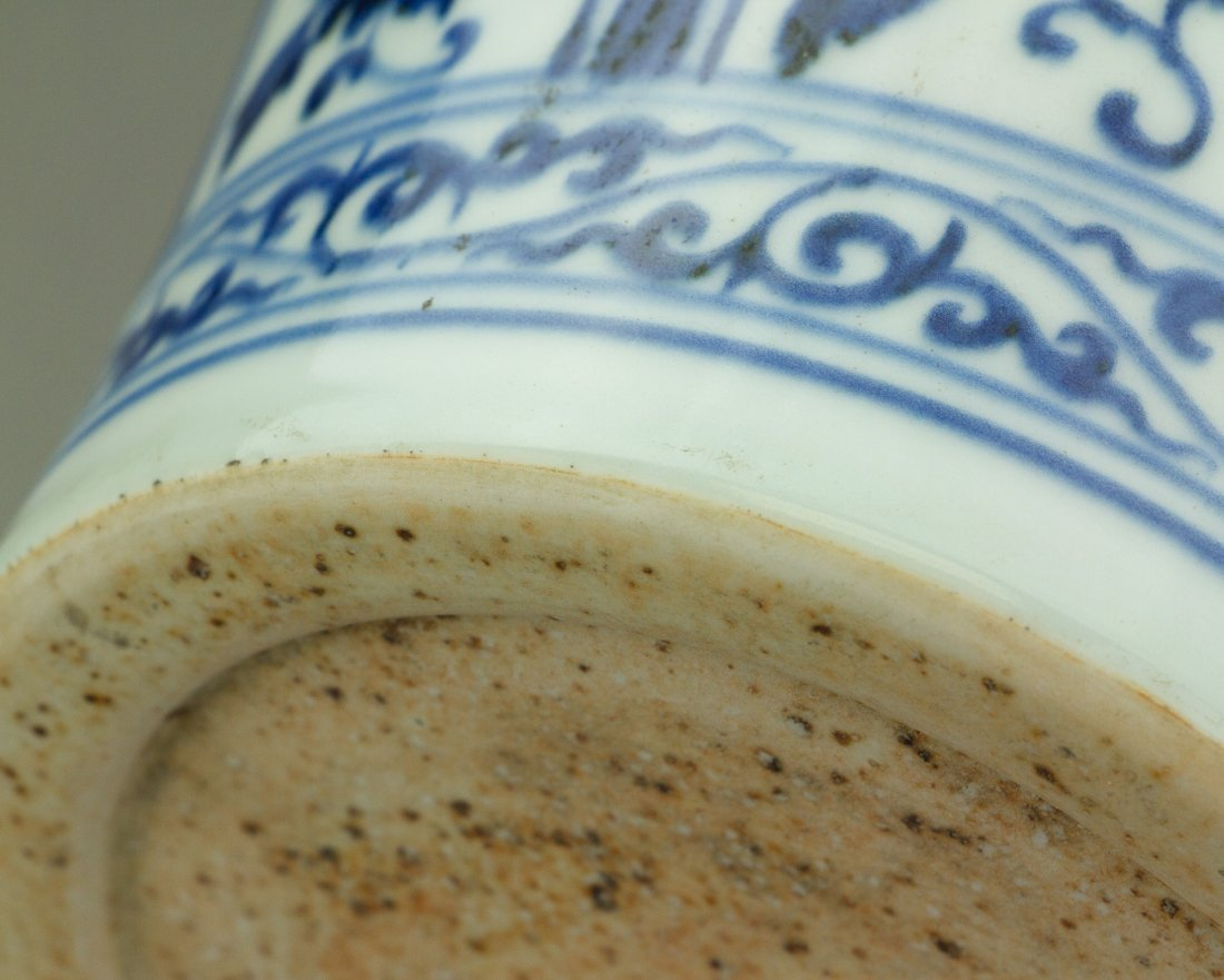 Chinese Blue & White Porcelain Meiping Vase - 5