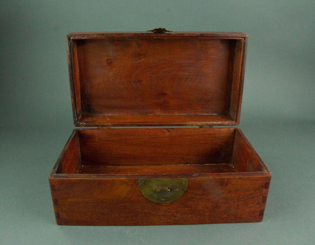 Chinese Rosewood Jewellery Box - 2