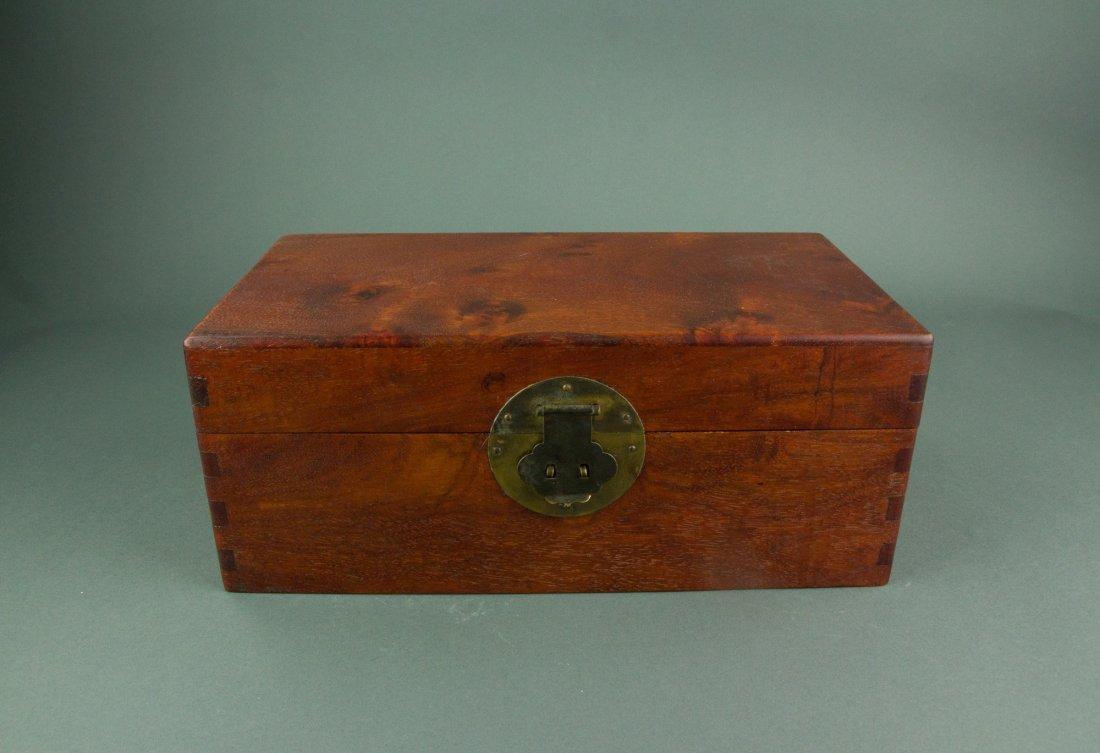 Chinese Rosewood Jewellery Box - 3