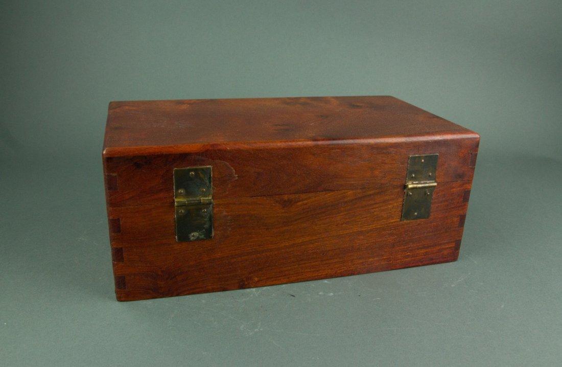 Chinese Rosewood Jewellery Box - 4