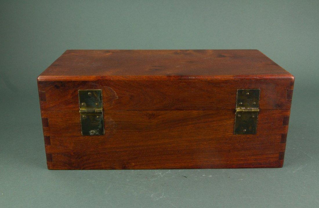 Chinese Rosewood Jewellery Box - 6