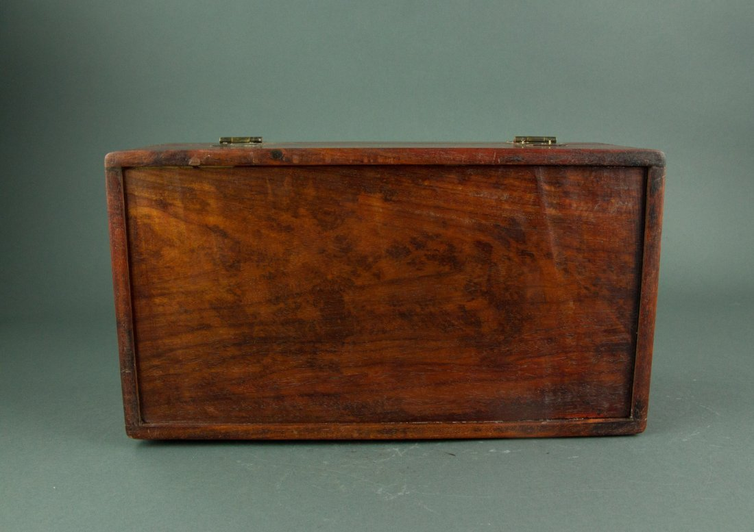 Chinese Rosewood Jewellery Box - 7