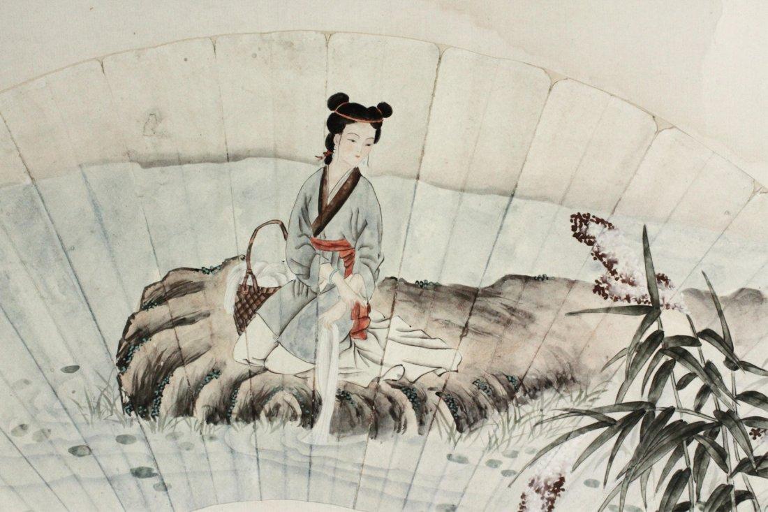 Chen Yunzhang 1909-1954 Watercolour on Fan Paper - 3