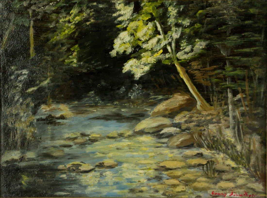 Frank Johnston 1888-1949 Oil on Panel Canada