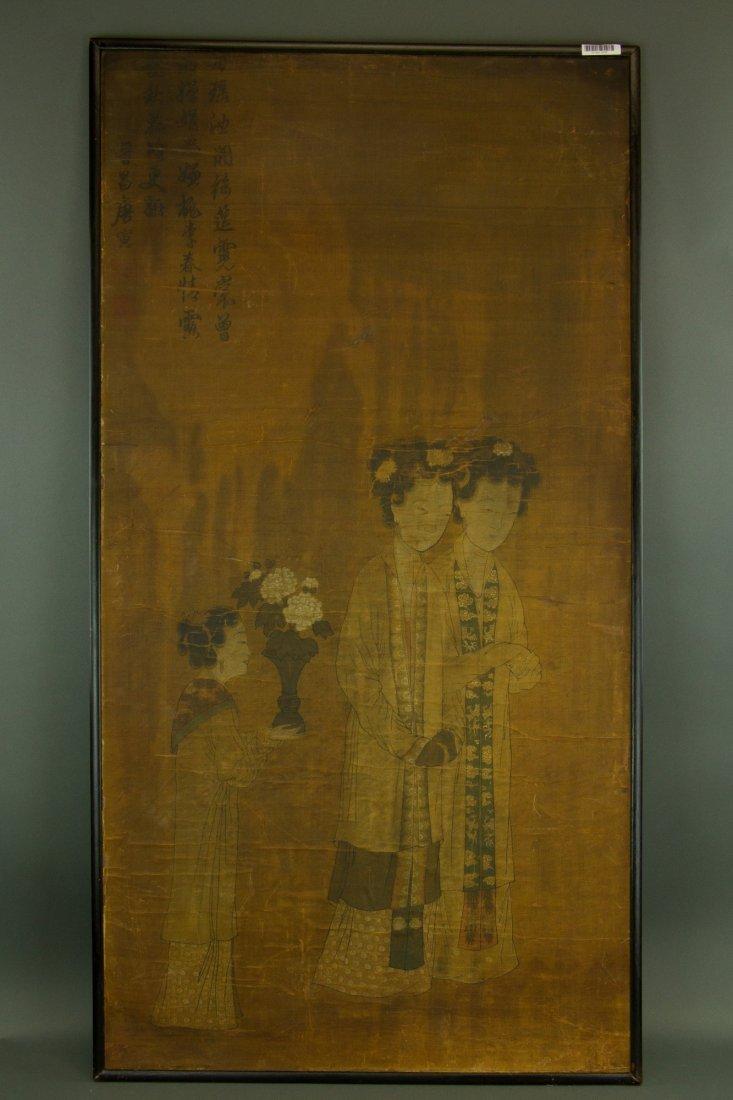 Tang Yin 1470-1524 Watercolour on Silk w/ Frame