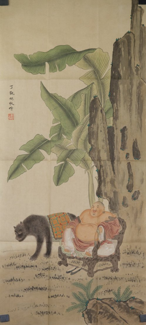 Ding Guanpeng 1708-1771 Watercolour on Paper