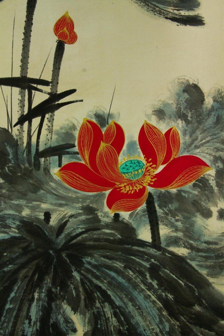 Zhang Daqian 1899-1983 Watercolour on Paper Scroll - 4