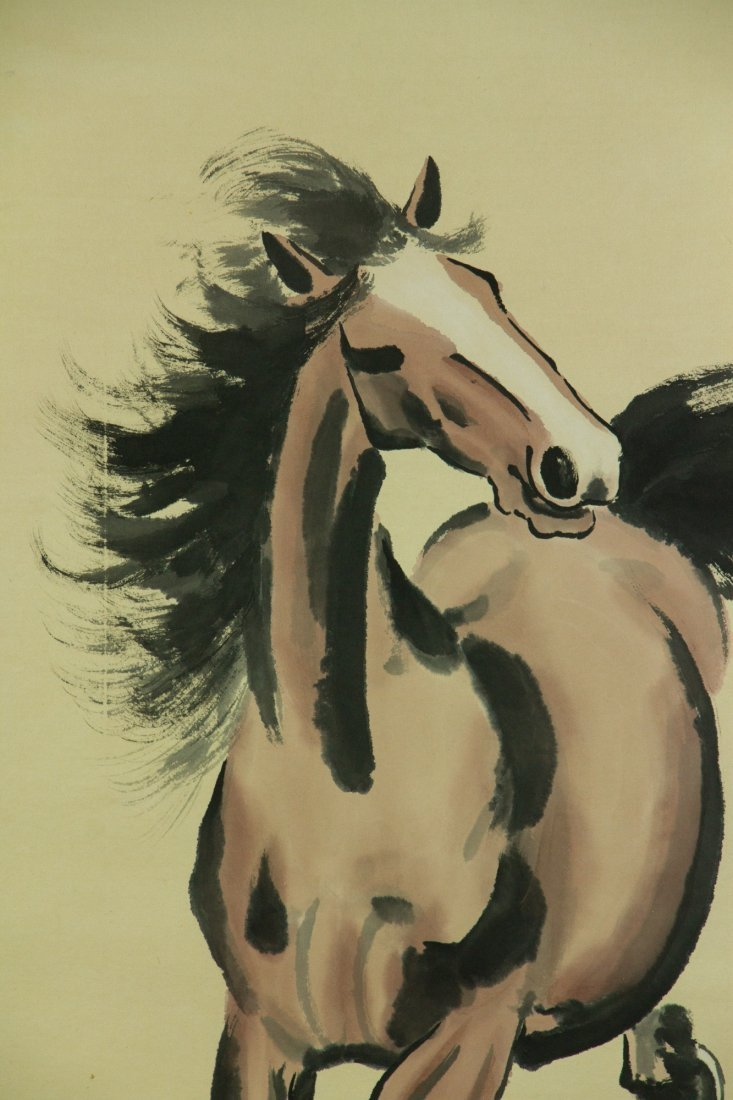 Xu Beihong 1895-1953 Watercolour on Paper Scroll - 3