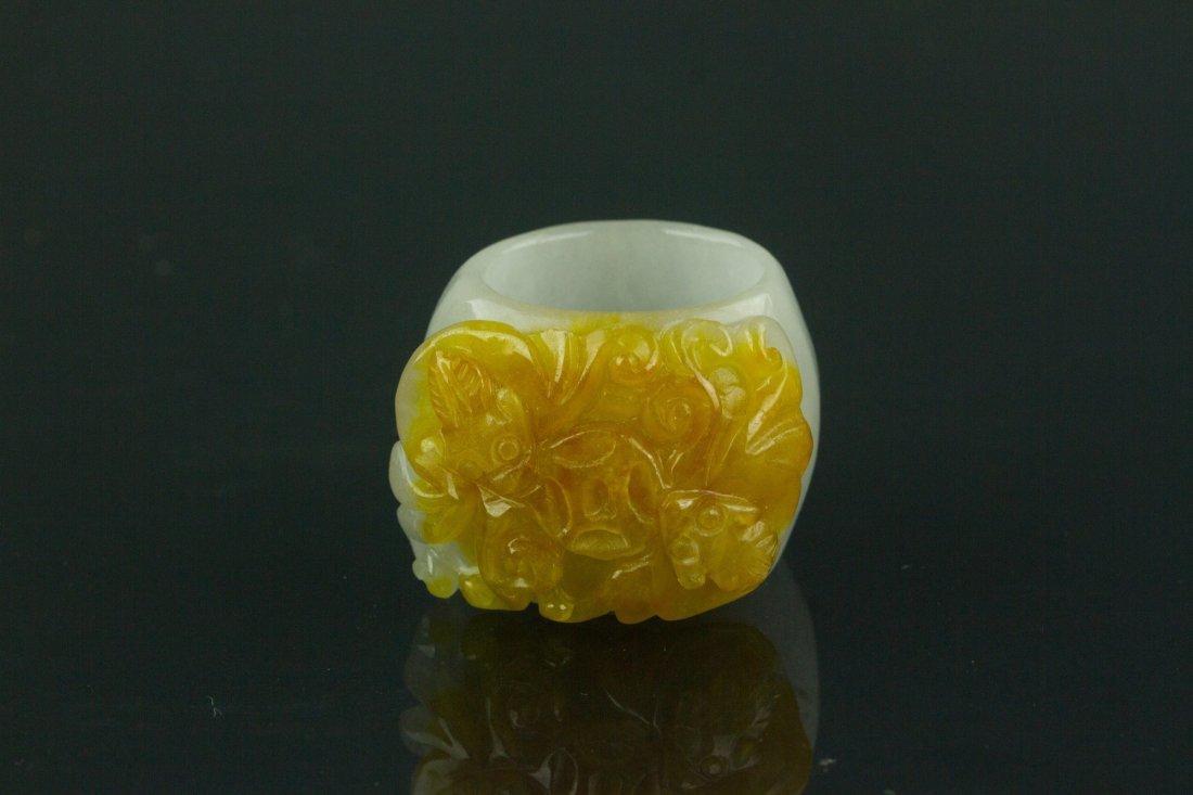 Chinese Lavender Jadeite Archers' Ring