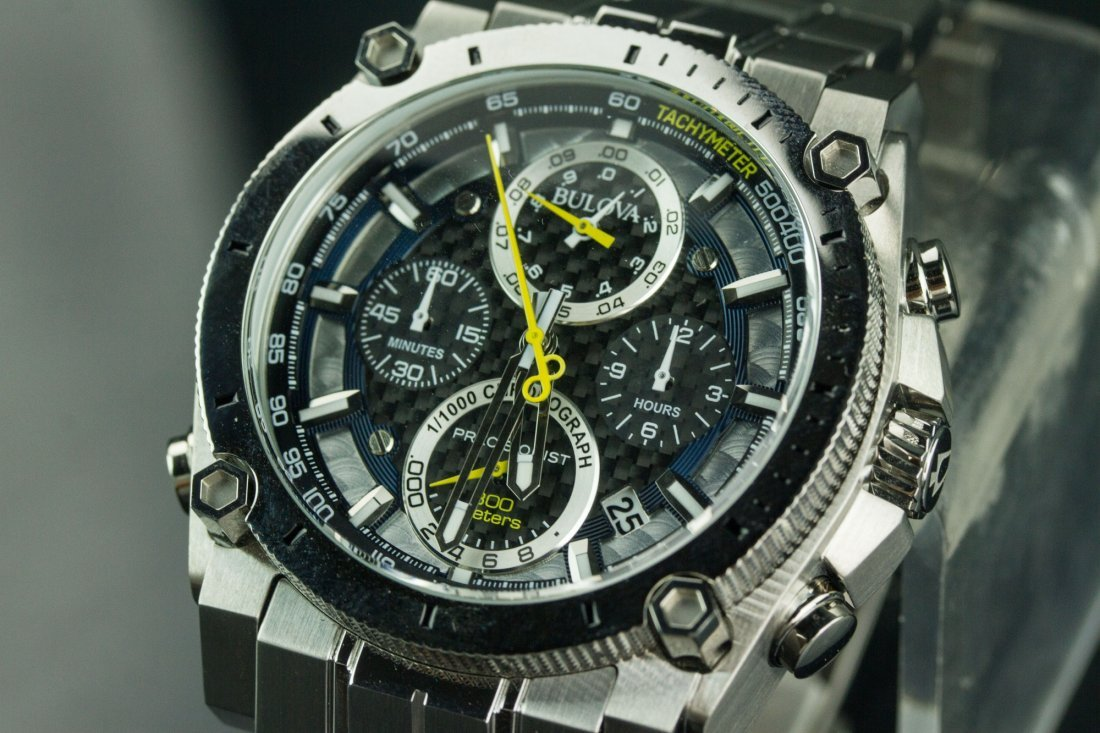 Bulova Precisionist Chronograph WR 300 Men's Watch - 2