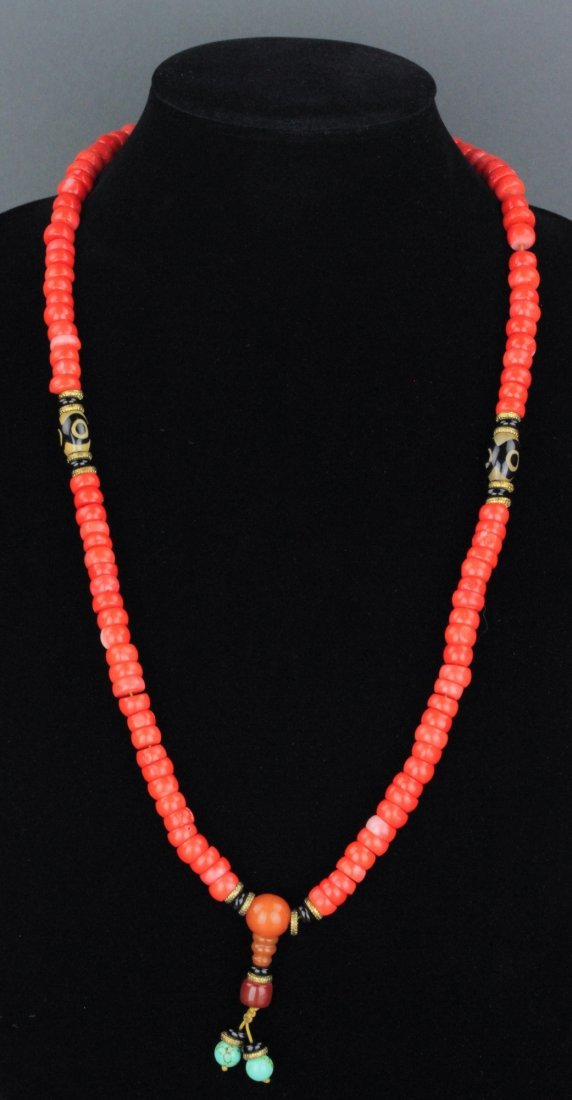 Chinese Fine Coral Necklace