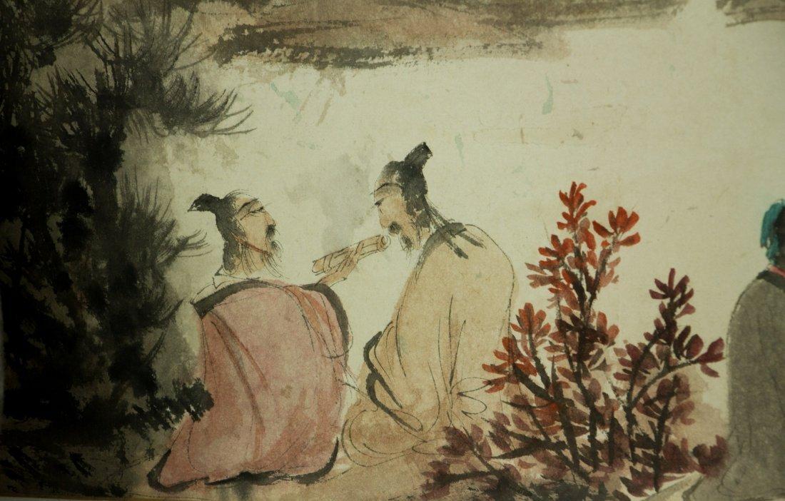 Fu Baoshi 1904-1965 Watercolour on Paper Scroll - 10