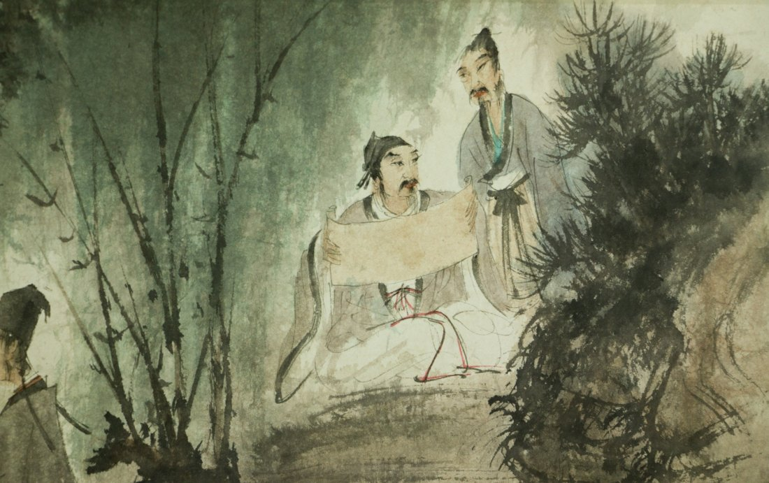Fu Baoshi 1904-1965 Watercolour on Paper Scroll - 3