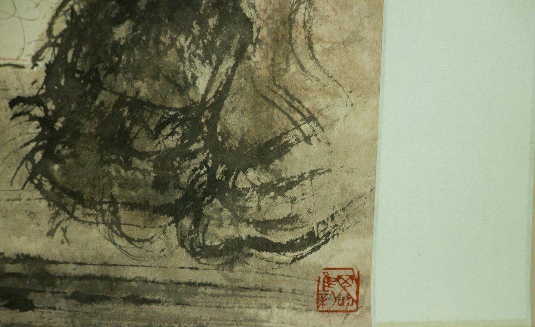 Fu Baoshi 1904-1965 Watercolour on Paper Scroll - 4