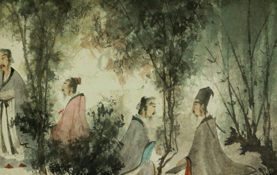 Fu Baoshi 1904-1965 Watercolour on Paper Scroll - 5