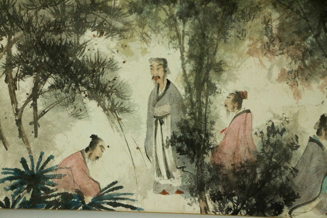 Fu Baoshi 1904-1965 Watercolour on Paper Scroll - 6