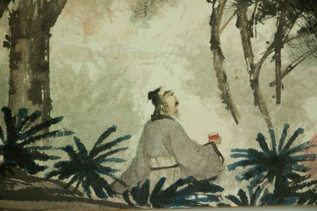 Fu Baoshi 1904-1965 Watercolour on Paper Scroll - 7