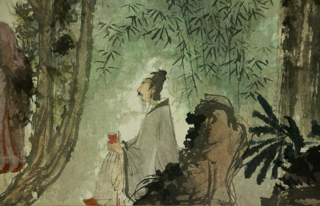 Fu Baoshi 1904-1965 Watercolour on Paper Scroll - 8