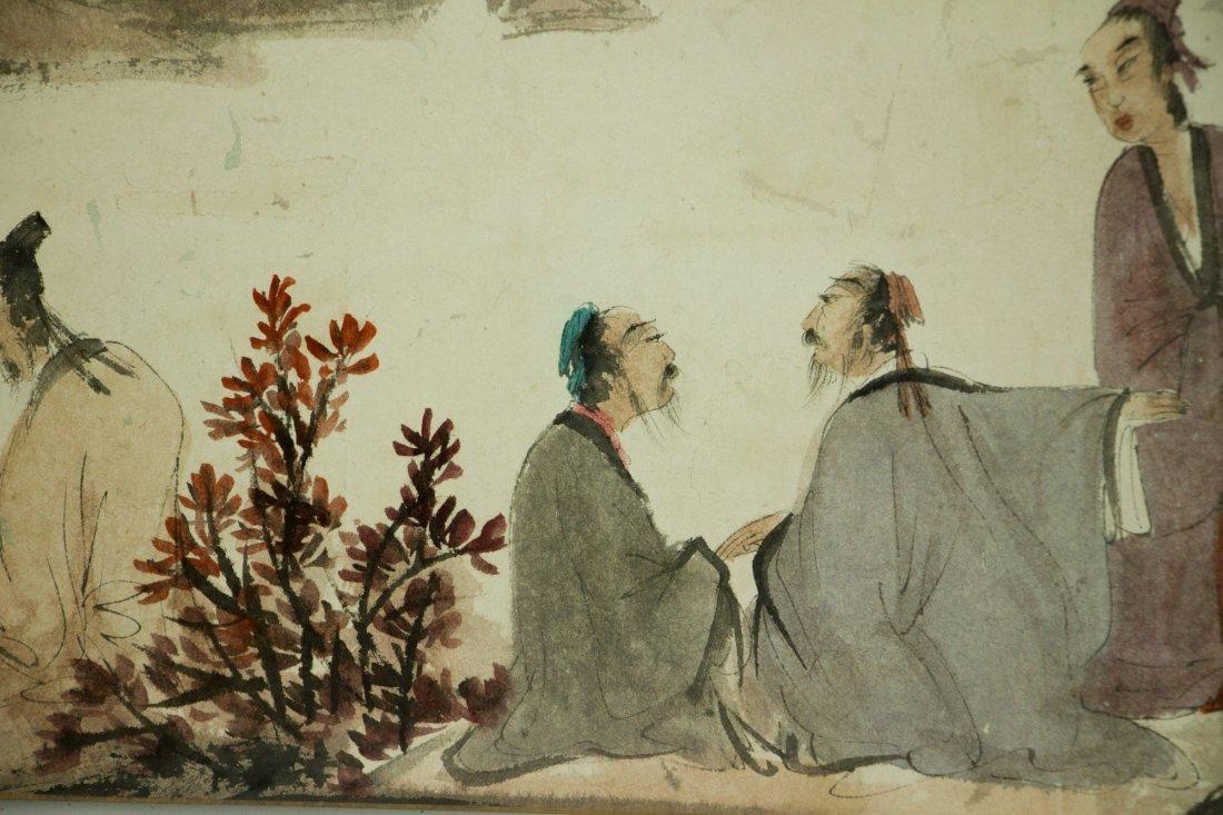 Fu Baoshi 1904-1965 Watercolour on Paper Scroll - 9