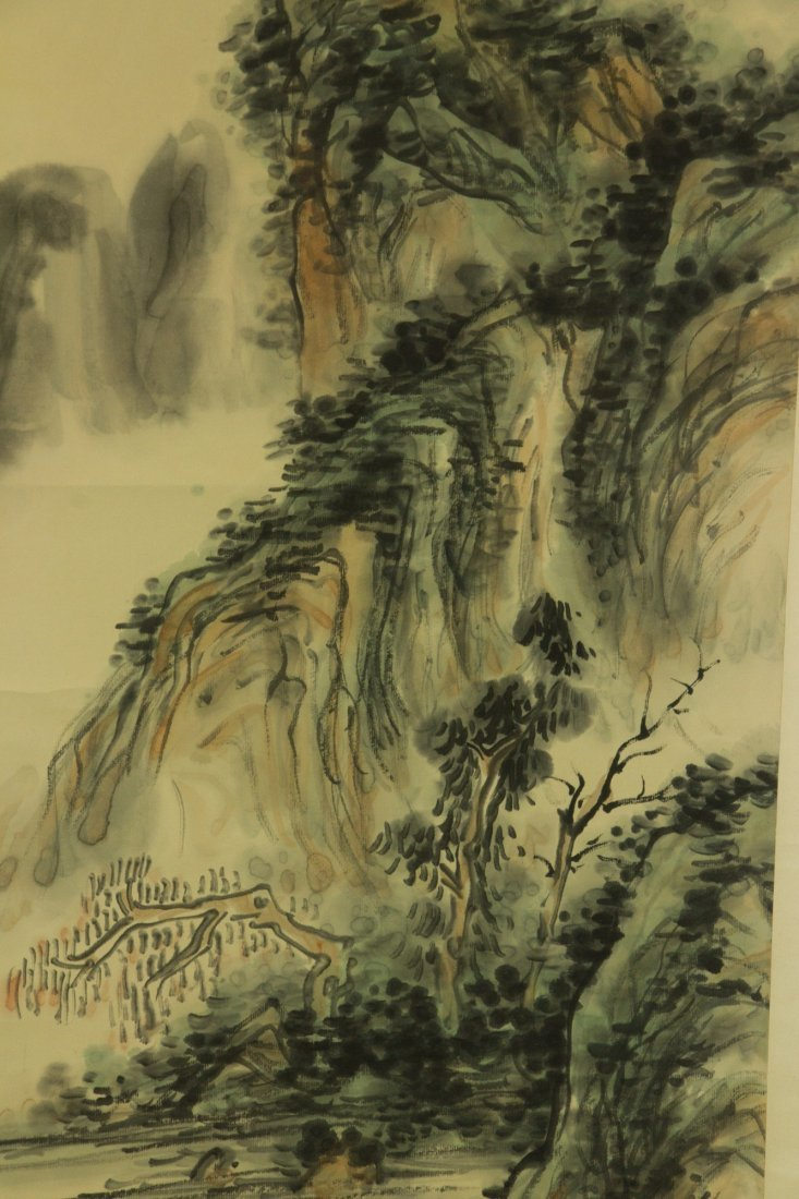 Huang Binhong 1865-1955 Watercolour on Paper Scrol - 3