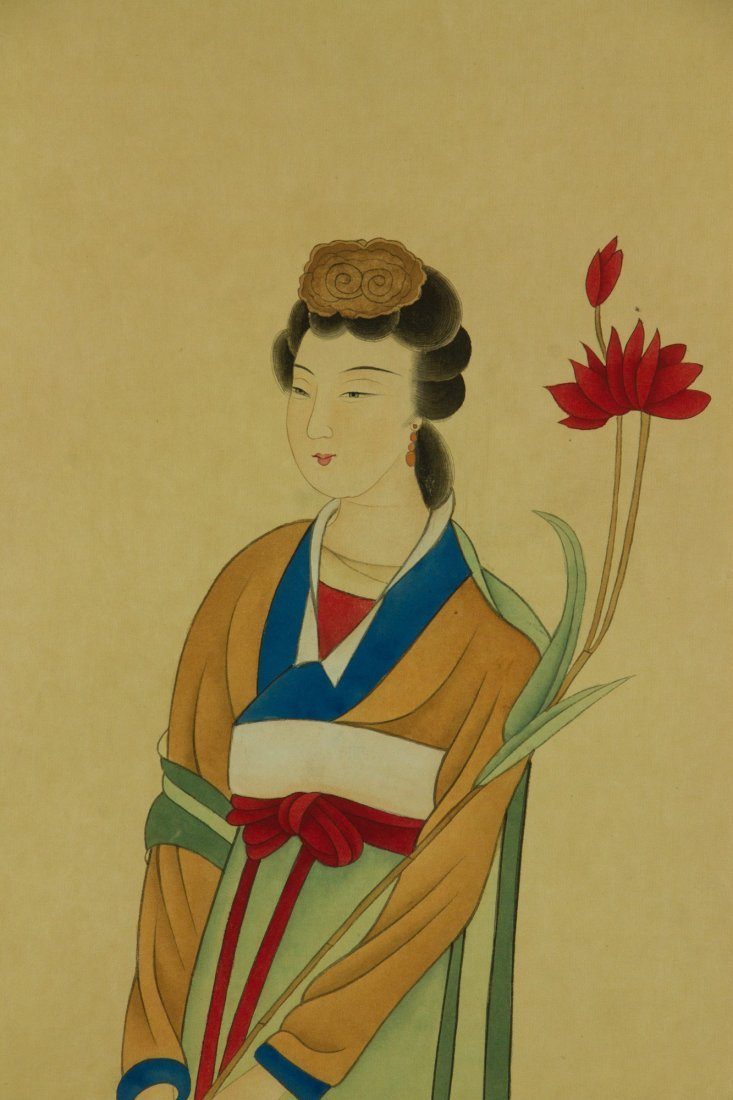 Zhang Daqian 1899-1983 Watercolour on Paper Scroll - 3