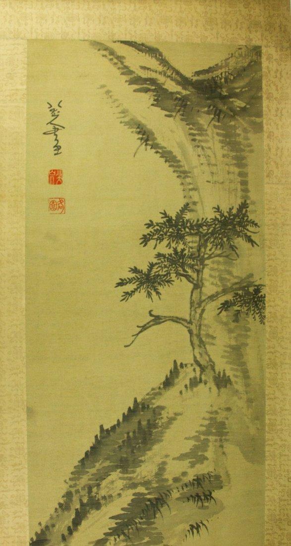 Badashanren 1626-1705 Watercolour on Silk Scroll - 2