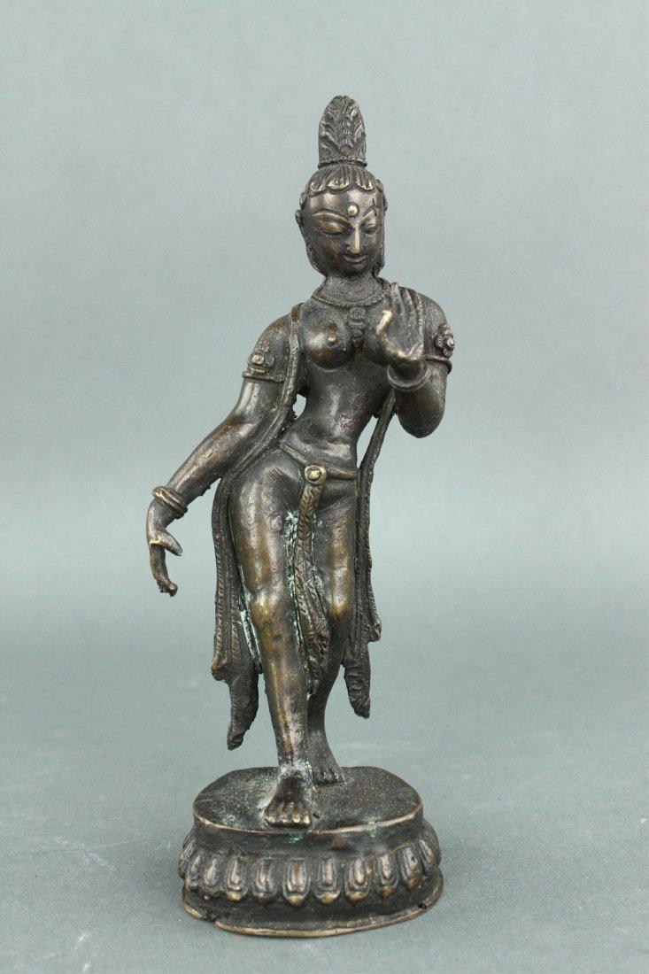 Burma or India Bronze Figure 18/19th C.