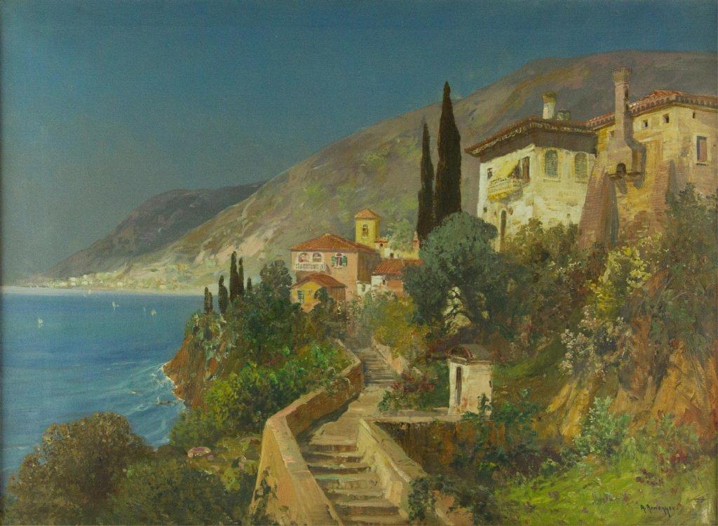 Alois Arnegger Oil On Canvas Austria 1879-1967