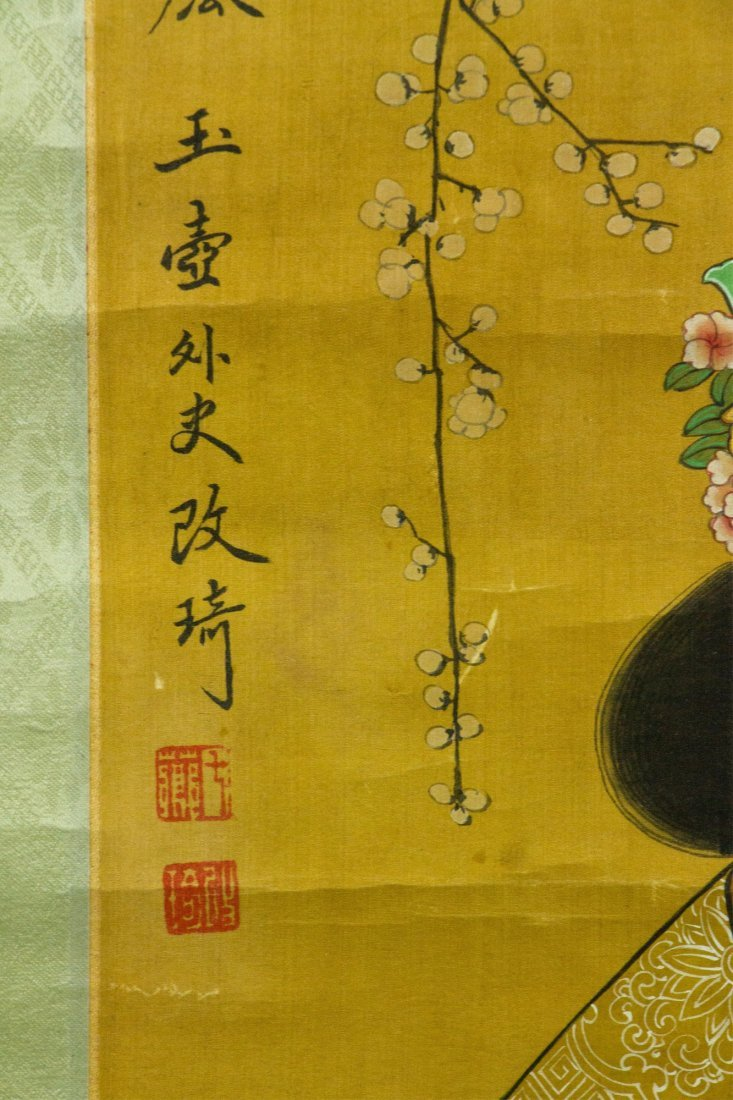 Gai Qi 1774-1829 Watercolour on Silk Scroll - 2