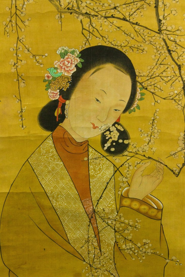 Gai Qi 1774-1829 Watercolour on Silk Scroll - 3