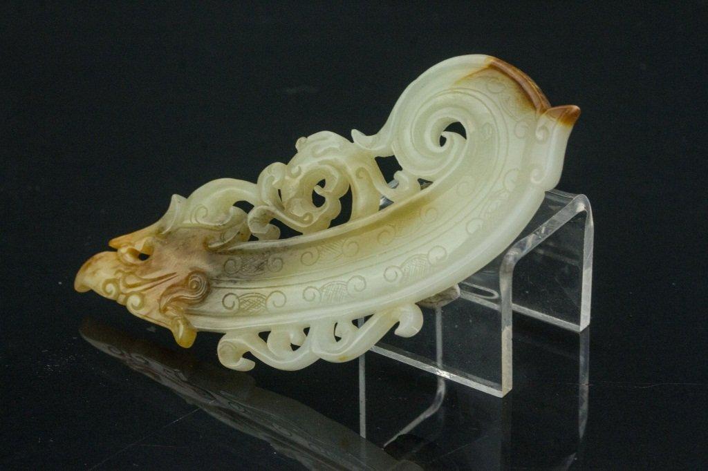 Chinese Jade Dragon Plaque - 3