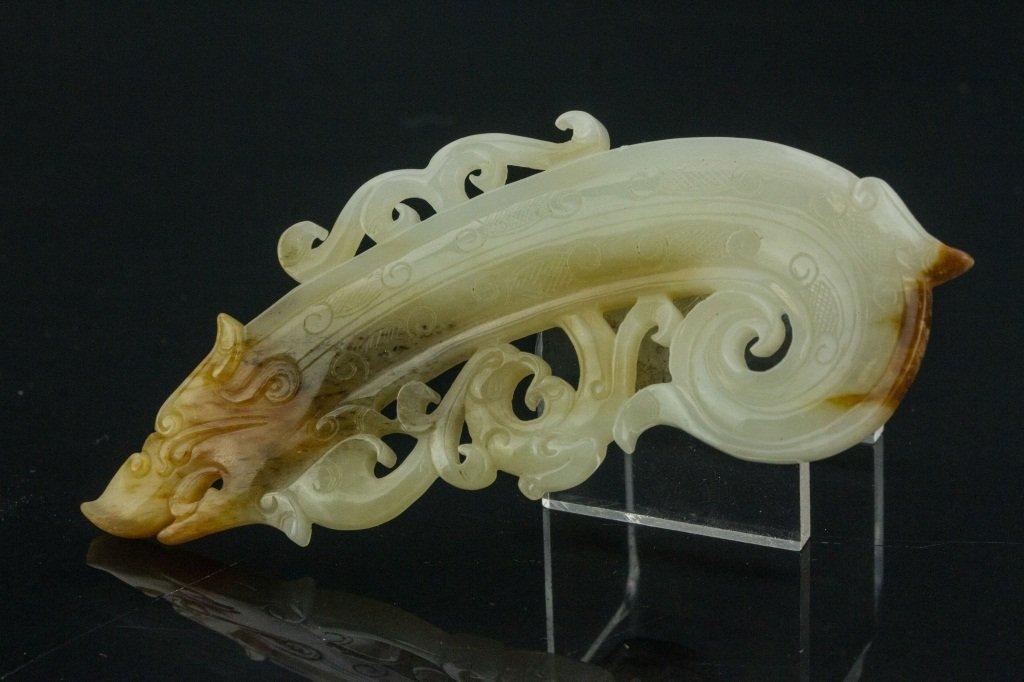 Chinese Jade Dragon Plaque - 4