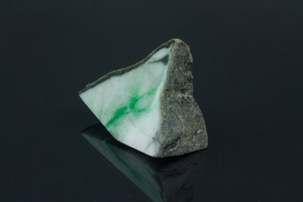 Chinese Natural Green Jadeite Uncarved Boulder - 2