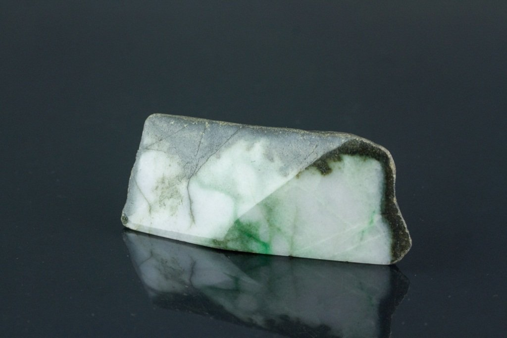 Chinese Natural Green Jadeite Uncarved Boulder - 4
