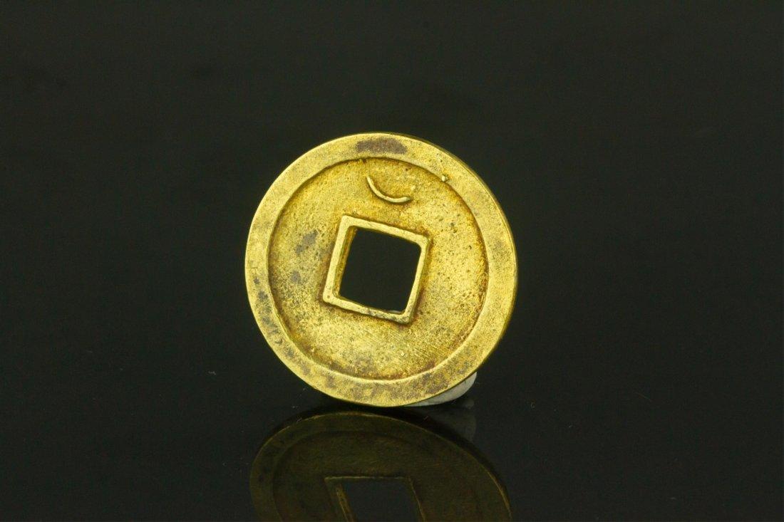 Tang Dynasty Chinese Gold Coin Kai Yuan Tong Bao - 3