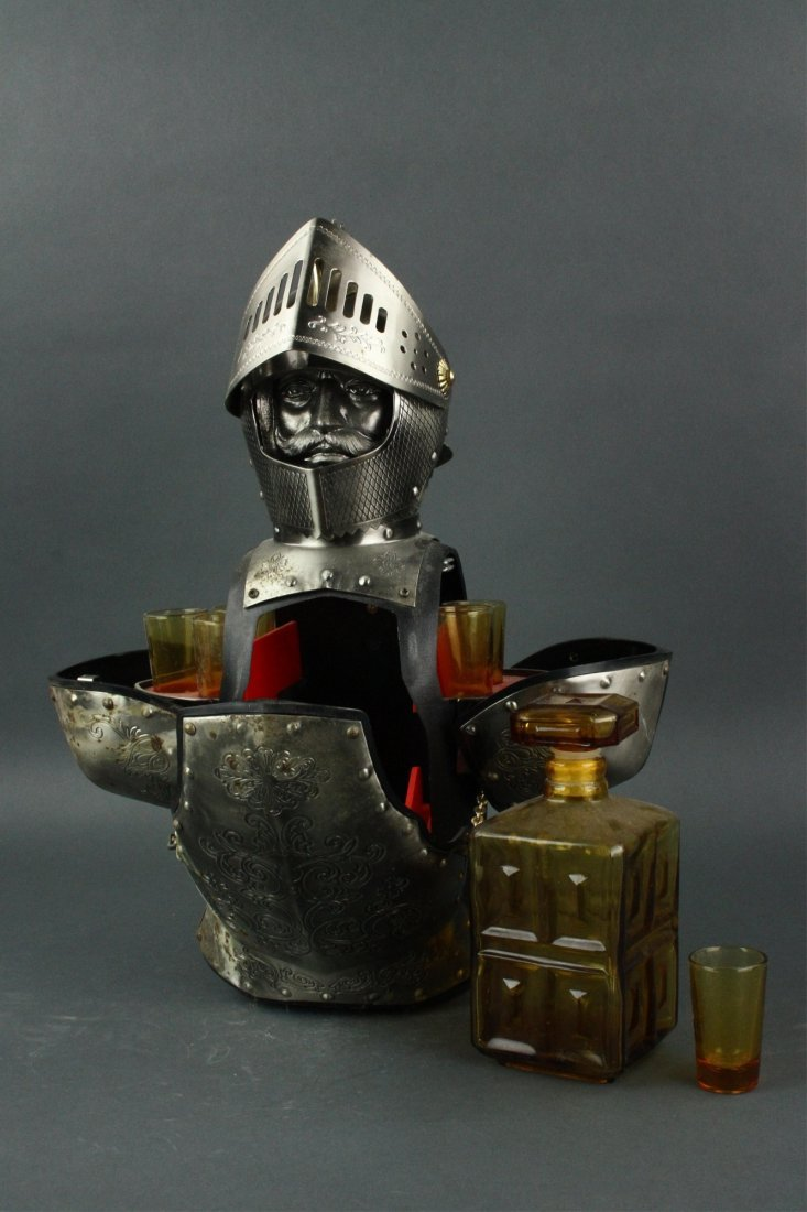 Japanese Silver Knight Figure Cup Holder - 3
