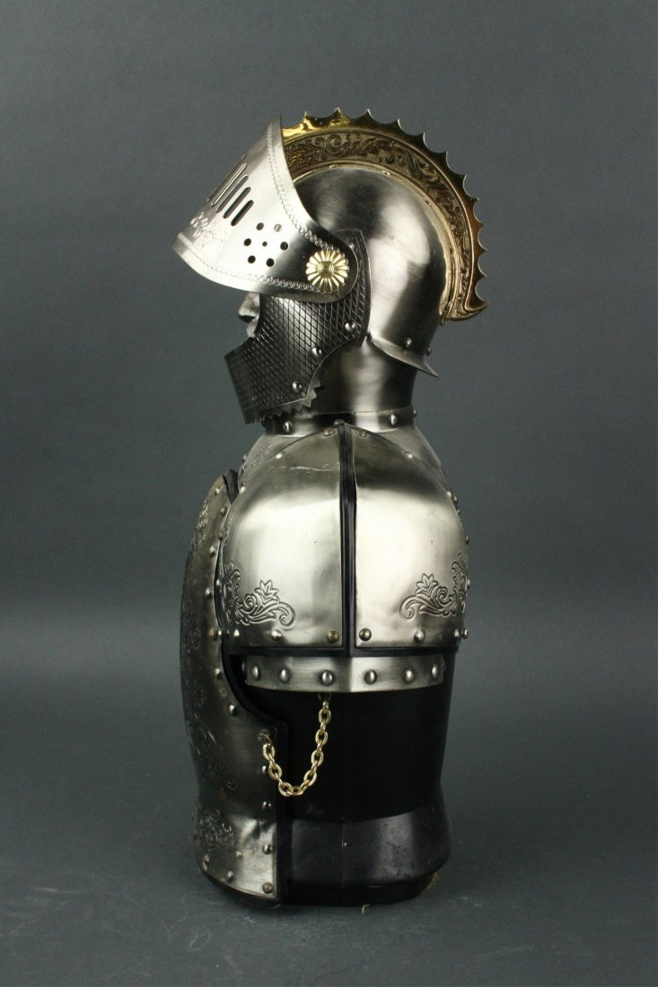 Japanese Silver Knight Figure Cup Holder - 5