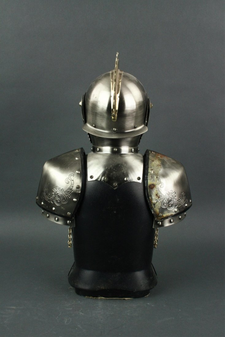 Japanese Silver Knight Figure Cup Holder - 6