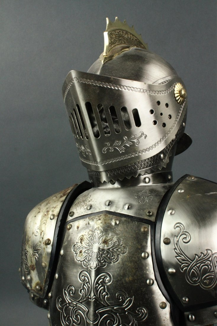 Japanese Silver Knight Figure Cup Holder - 7