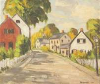 George Broomfield 1906-1992 Canadian Oil Framed