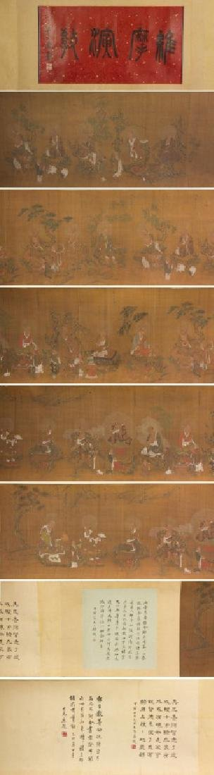 Ding Guanpeng 1708-1771 Watercolour on Hand Scroll