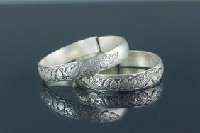 Pair Chinese Silver Bracelet