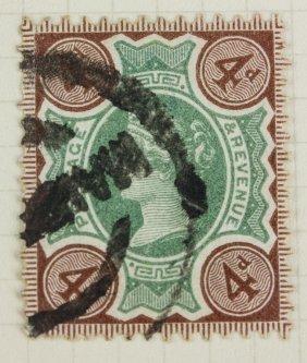 British 4 Pence 1887-1892 Stamp