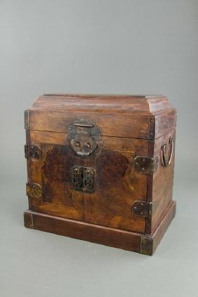 Chinese Wood Treasure Box with Drawers