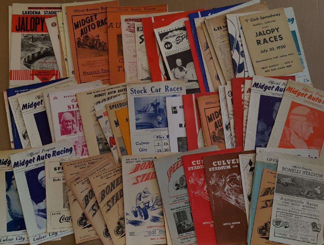 100 1940's-50's race programs