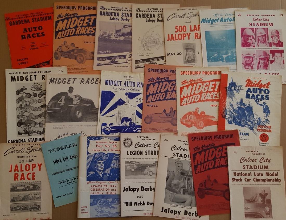 100 1940's-50's race programs - 2