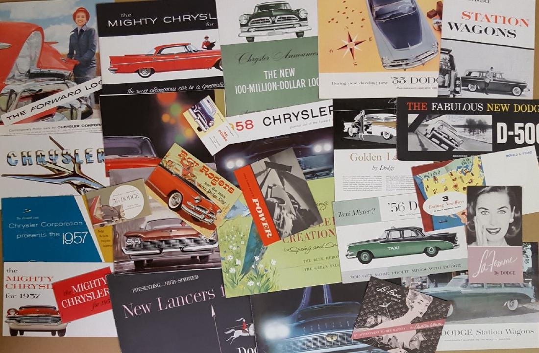 1955-1959 Chrysler Products broc, incl 300 - 2
