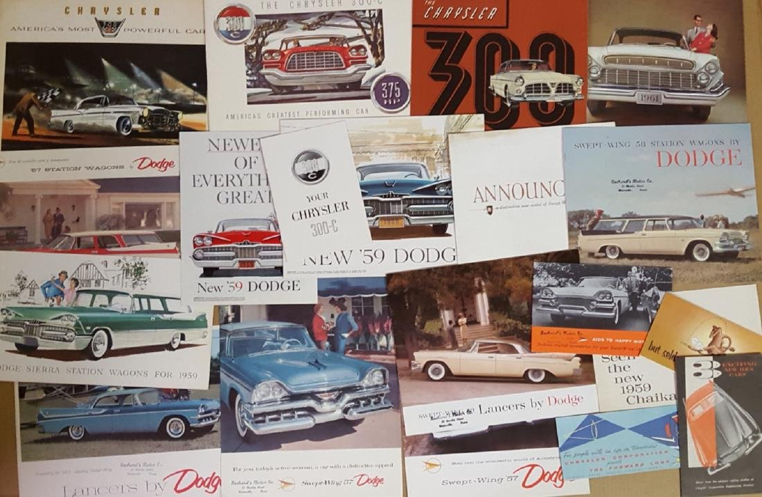 1955-1959 Chrysler Products broc, incl 300 - 3